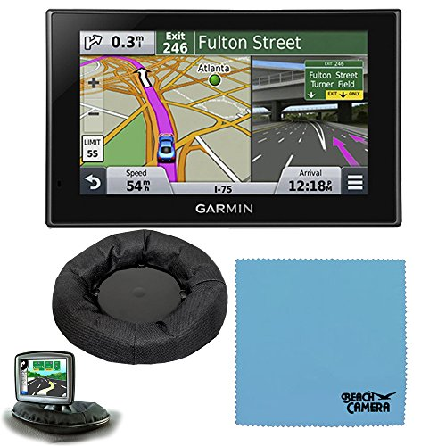 Garmin Nuvi 2589LMT 010-01187-05 North America Bluetooth Voice Activated 5 inch Lifetime Maps and Traffic USA Canada Mexico Maps GPS Friction Mount Bundle- Includes GPS, and Garmin Portable Friction D