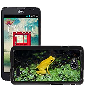 Super Stella Slim PC Hard Case Cover Skin Armor Shell Protection // M00104554 Frog Amphibian Yellow Colorful // LG Optimus L70 MS323