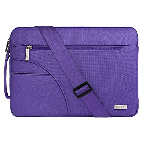 MOSISO Laptop Shoulder Bag Compatible 13-13.3 Inch MacBook Pro, MacBook Air, Ultrabook Netbook Tablet, Polyester Ultraportable Protective Briefcase Carrying Handbag Sleeve Case Cover, Ultra Violet