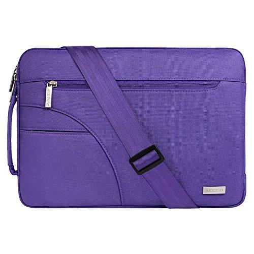 MOSISO Laptop Shoulder Bag Compatible 13-13.3 Inch MacBook Pro, MacBook Air, Ultrabook Netbook Tablet, Polyester Ultraportable Protective Briefcase Carrying Handbag Sleeve Case Cover, Ultra Violet
