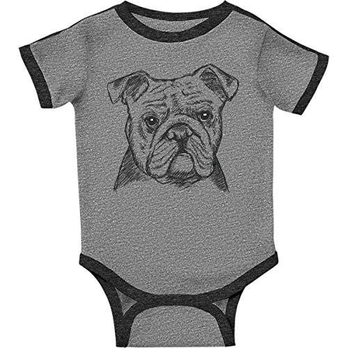 inktastic - English Infant Creeper Newborn Ringer Heather and Smoke 2a9ac