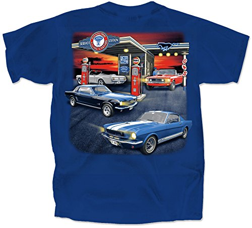 Gas Station Small Cotton Ford T-Shirt Metro Adult Men's Women's Short Sleeve (Metro Station Shirts)