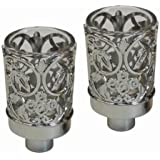 Majestic Giftware CH300 Neronim Candle Holder, 3-Inch, Silver Plated