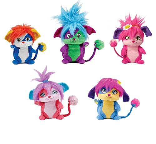 Popples Plush Full Set of 5 - Exclusive - As Seen Only On Netflix