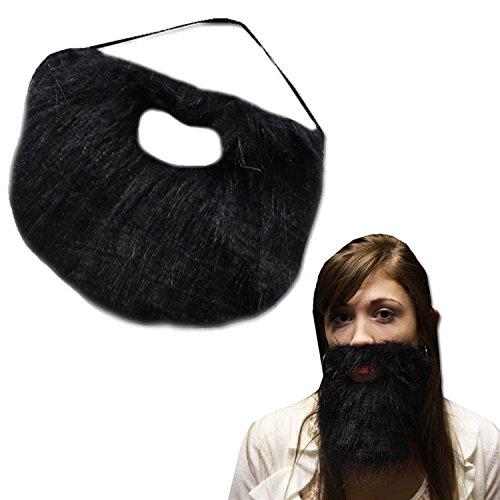 Black Beard With Elastic Band (Hobo Halloween Costume Ideas)