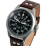 Messerschmitt 47mm Fliegeruhr Watch with Aviator Leather Strap ME-47XL