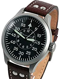 47mm Fliegeruhr Watch with Aviator Leather Strap ME-47XL
