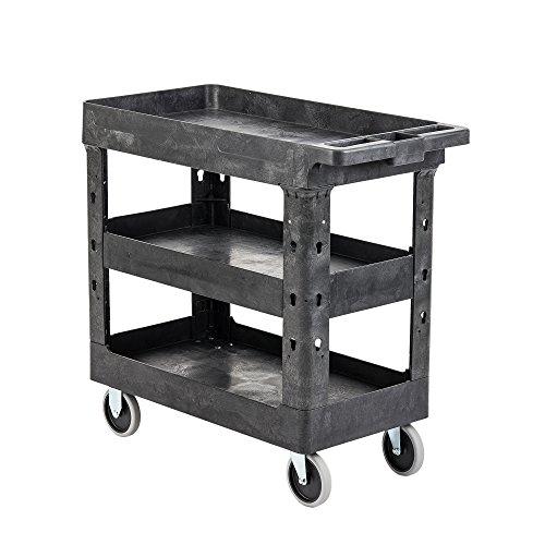 Pearington Multi Purpose Heavy Duty Cart - 3 Shelf Service Cart and Utility Cart with 500lb Loading Capacity, (Restaurant Service Carts)