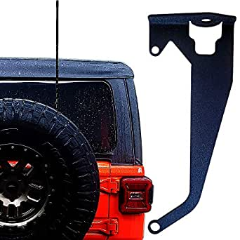 JK Rugged Radios MT-ANT-Jeep-PS Passengers Side Antenna Mount for Jeep Wrangler JL TJ and JT