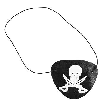 COM-FOUR® Juego de Regalo Pirata de 18 Piezas para cumpleaños de niños Compuesto por Anillo Pirata, Parche en el Ojo y Tatuajes metálicos temporales (018 ...