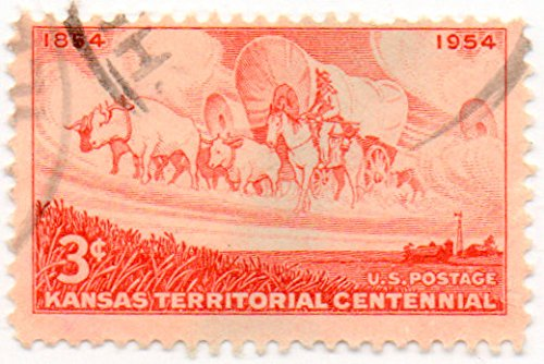 Territory Issue - USA Postage Stamp Single 1954 Kansas Territory Issue 3 Cent Scott #1061