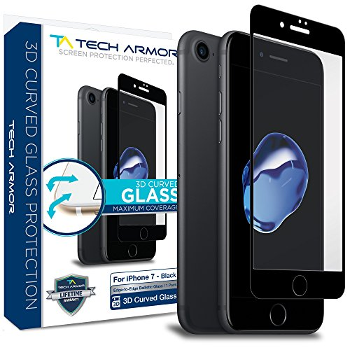 Tech Armor Apple iPhone 7  3D Curved Edge Glass Screen