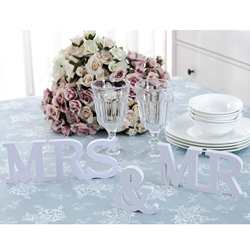 b563d7c2638b Buytra Wedding Decorations Set with Just Married Wedding Banner Mr Mrs  Signs Letters for Sweetheart Table