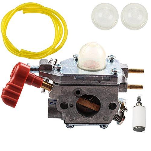 Dalom 753-06288 C1U-P27 Carburetor with Fuel Line Filter Primer Bulb for Zama Craftsman Troybilt Yard Machine Trimmer Carb