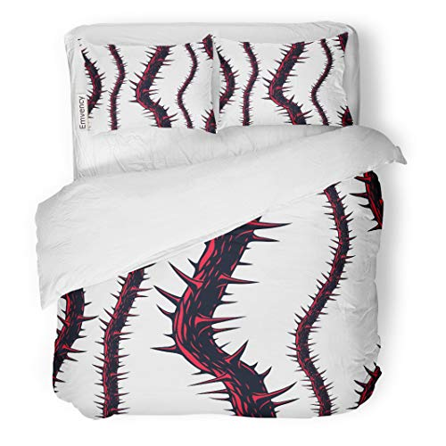 Semtomn Decor Duvet Cover Set Twin Size Horror Blackthorn Branches Thorns Endless Hard Rock and Heavy 3 Piece Brushed Microfiber Fabric Print Bedding Set -