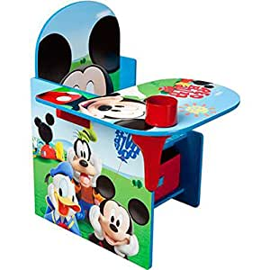 disney chair desk with storage bin mickey mouse characters desk set fabric storage. Black Bedroom Furniture Sets. Home Design Ideas