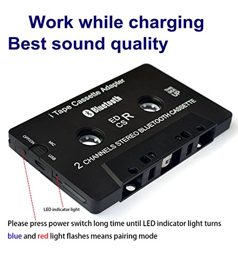 Cassette Player work while charging Bluetooth Receiver Car/B