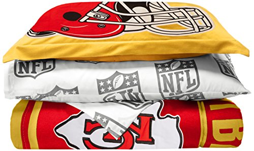 City Comforter Chiefs Kansas (The Northwest Company NFL Kansas City Chiefs Soft & Cozy 5-Piece Twin Size Bed in a Bag Set)