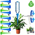 HEYLOVE Plant Waterer Self Watering Devices, Vacation Potted Plant Watering Spikes Automatic Drip Irrigation Water Stakes System with Control Valve Switch for Garden Plants Indoor & Outdoor