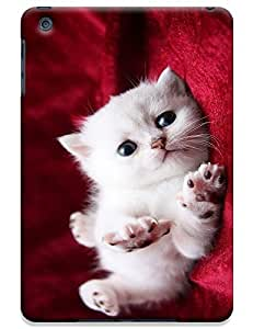 White Cat coquetry on the Red Sofa cute lovely cell phone cases for Apple Accessories iPadmini iPad Mini