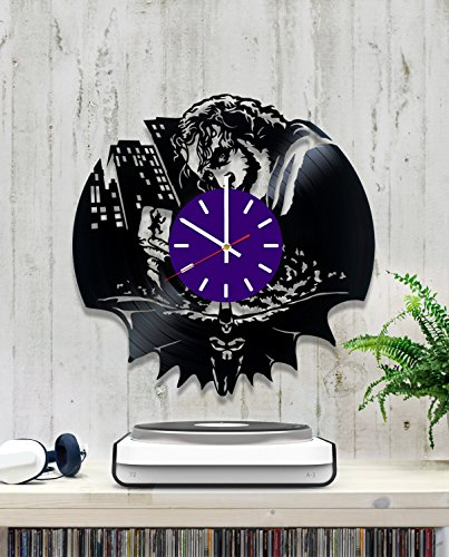 Mark Hamill Joker Costume (Joker Supervillain Vinyl Record Wall Clock - Contemporary and Creative Room Wall Decor - Modern DC Comics Fan Art - Best Gift Idea For His and Her)
