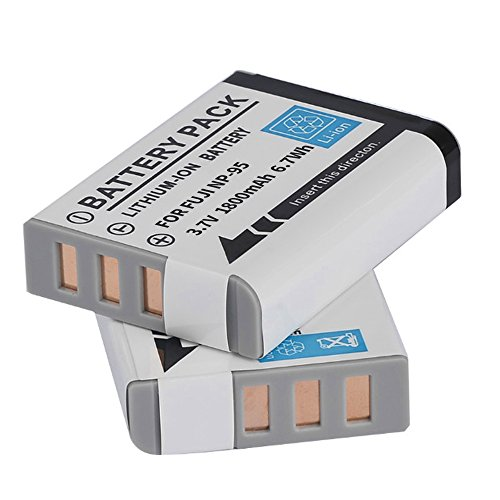 RUISI NP-95 Battery for Fuji X-100 X 30, X100, X100S, X100T, X-S1,FinePix F30, F31, Real 3D W1 Digital Camera by RUISI