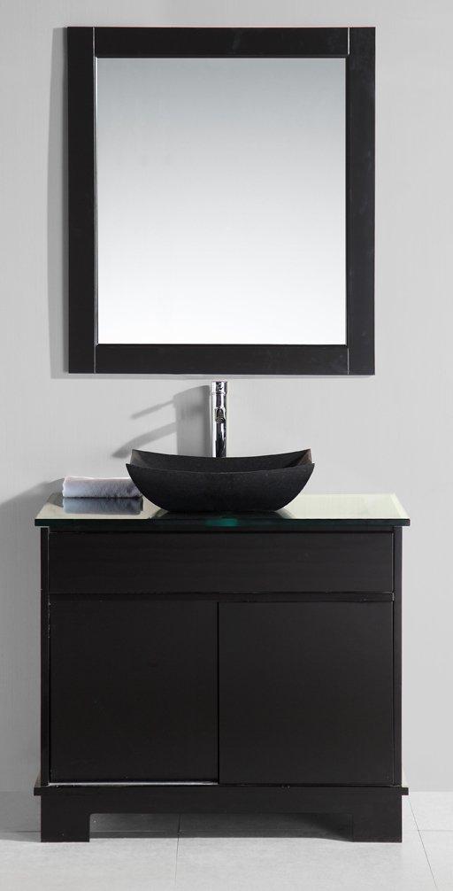 Design Element Oasis Single Sink Vanity Set with Built in LED Lights, 36-Inch
