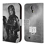 Official AMC The Walking Dead Daryl Double Exposure Leather Book Wallet Case Cover For Samsung Galaxy S4 I9500