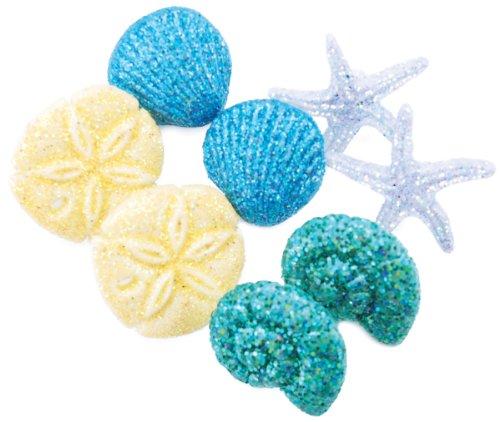 (Dress It Up Embellishment Buttons 8pc - Seashells at Seashore)
