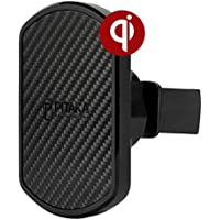 PITAKA Magnetic Wireless Charging Air Vent Car Mount[ Car Vent Magmount Qi]-Premium Luxury 360 Degree Rotation Long Life Claw Fast Charge Car Mount Cell Phone Holder for Qi Smartphones
