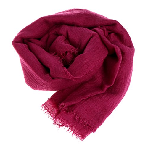 Bubile Women Islam Maxi Crinkle Cloud Hijab Scarf Shawl Muslim Long Shawl Stole Wrap (Purplish Red) - Muslim Costume For Female