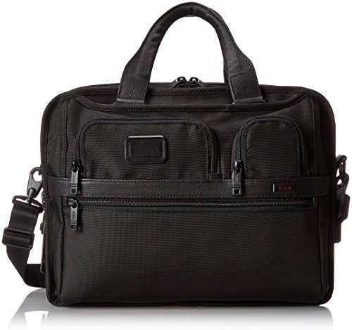 Tumi Alpha 2 T-Pass and Reg Expandable Laptop Brief, Black, One (Expandable Leather Laptop Brief)