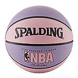 "Spalding NBA Street Pelota de baloncesto - Rosado y lila - Tamaño intermedio 6 (28.5"") (72.4 cm)"