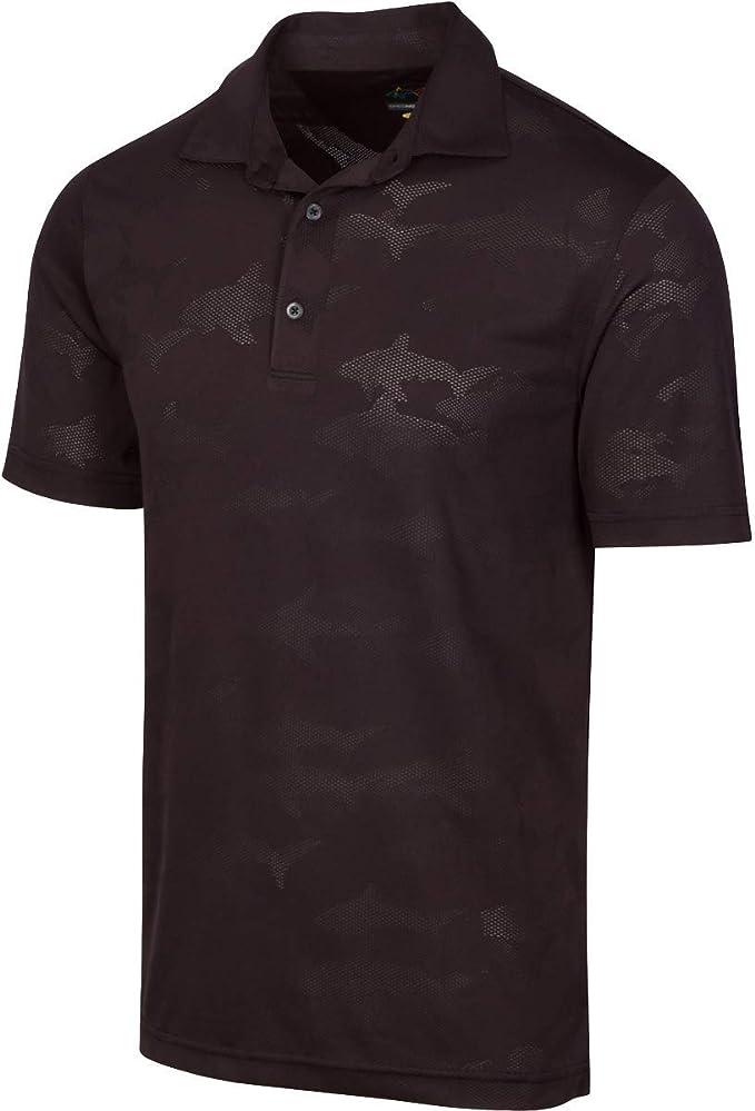 Greg Norman Shark Jacquard Polo Short Sleeve