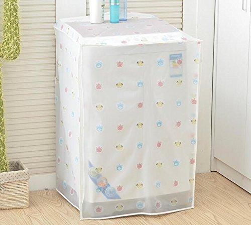 Wangc - Funda impermeable para lavadora de tambor (60 x 56 x 83 cm), color blanco