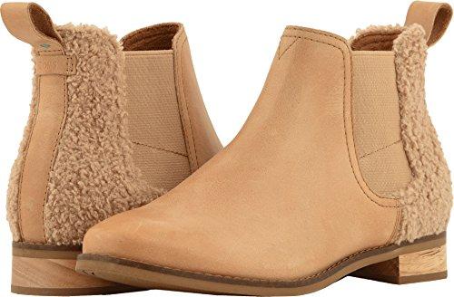 TOMS Women's Ella Honey Leather/Faux Shearling 7.5 B US -