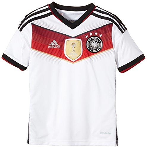 adidas Jungen Spieler-Heimtrikot Deutschland Gewinner Replica, White/Black/Victory Red S04/Matte Silver, 128, M35023