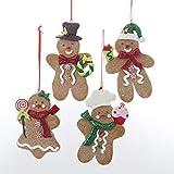 Kurt Adler Gingerbread Boy And Girl Ornament