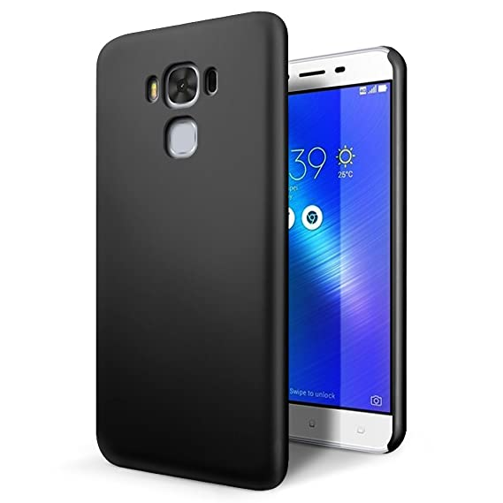 the latest dee73 a34a6 SLEO ASUS ZenFone 3 Max (ZC553KL) 5.5 inch Case - Rubberized Hard PC Back  Case Cover for ASUS ZenFone 3 Max (ZC553KL) 5.5 inch Phone - Black