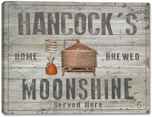 HANCOCK'S Family Name - MANY DESIGNS AVAILABLE - Home Brewed Moonshine Gallery Wrapped Canvas Sign 3 SIZES AVAILABLE - 11