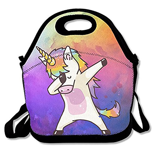 afe4d1f9e00a ZMvise Just DAB It Unicorn Lunch Tote Insulated Reusable Picnic Lunch Bags  Boxes For Men Women Adults Kids Toddler Nurses