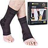 Ankle Brace Compression Support Sleeve for Injury Recovery, Joint Pain and More. Plantar Fasciitis Foot Socks with Arch Support, Eases Swelling, Heel Spurs, Achilles Tendon Roterdon (Grey, X-Large)