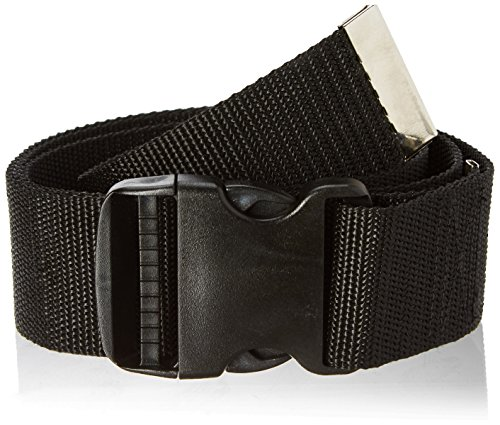 Prestige Medical Nylon Gait Transfer Belt with Plastic Buckle, Black, 3.75 Ounce