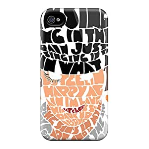 Shock Absorbent Cell-phone Hard Covers For Iphone 4/4s (JOu6345mrtC) Customized Trendy A Clockwork Orange Series