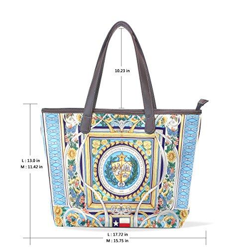 Coosun Damenmode Designs Pu Leder Große Einkaufstasche Griff Umhängetasche