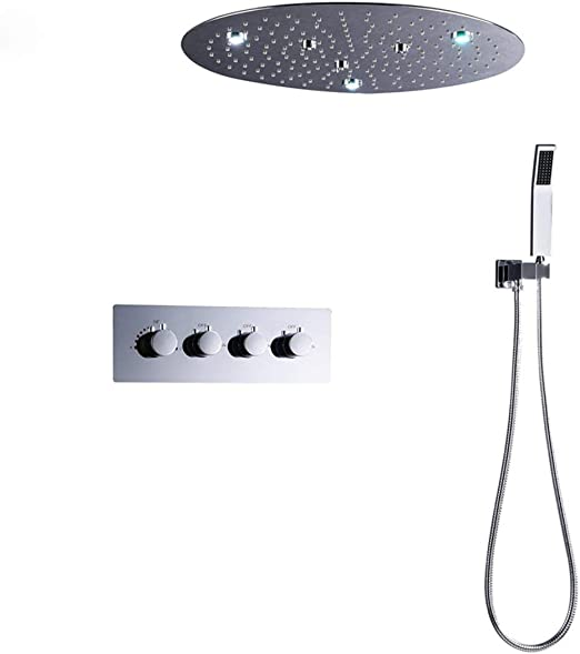 GW Urtain Redondo con LED de 20 Pulgadas Oculto incrustado en la ...