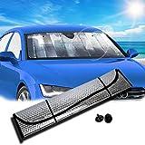 #6: Zento Deals Silver Accordion Sunshade Car Windshield Sun Shade Reflector