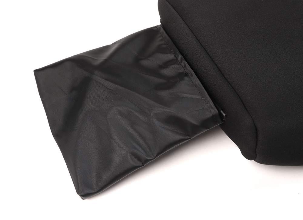 JL Black Colth Armrest Box Cover Decor Trim with Storage Pocket BORUIEN for Jeep Wrangler 2018
