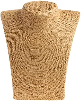 VIccoo Mujer Cuerda maniqu/í Busto joyer/ía exhibici/ón Soporte Estante Titular Collar Busto Soporte Amarillo