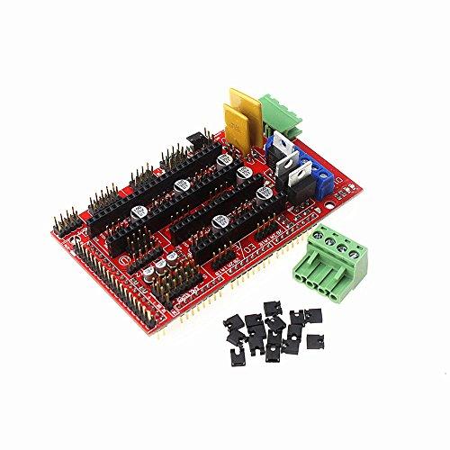 HESAI RAMPS 1.4 Controller Control Panel for Reprap Mendel Prusa 3D Printer Support Arduino Mega 2560 Devlepment (1.4 Heater)